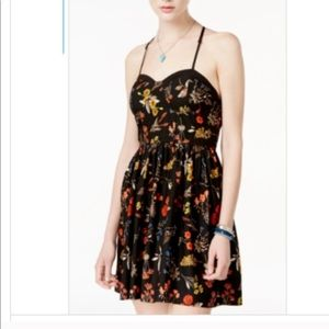 American Rag Black Floral Mini Dress 🌸